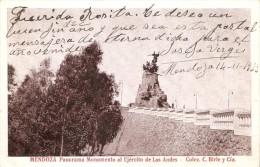 POSTAL DE MENDOZA DE PANORAMA MONUMENTO AL EJERCITO DE LOS ANDES DEL AÑO 1923 (COLEC. C. BIRLE Y CIA)  (ARGENTINA) - Argentina
