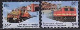 India MNH 2013, Set Of 2  Railway Workshop, Train, Transport, - Unused Stamps