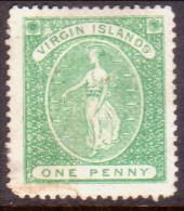 British Virgin Islands 1868 SG #8 1d MNG No Wmk Repaired Spacefiller CV £80 - British Virgin Islands