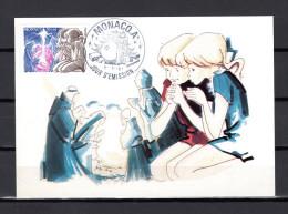 """MONACO 1981 : Carte Maximum """" NOEL / ENFANTS DEVANT LA CRECHE """" N° YT 1299. Parfait état. CM - Maximum Cards"""