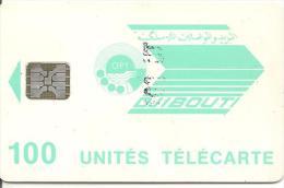 CARTE-PUCE-OPT-DJIBOUTI-100U--SC5-VERTE PALE-SCHLUM-V° N° TG C51100979-TBE - Dschibuti