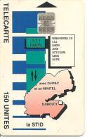 CARTE-PUCE-OPT-DJIBOUTI-150U--SC7-La STID-V° N° C 5A154111-TBE - Dschibuti