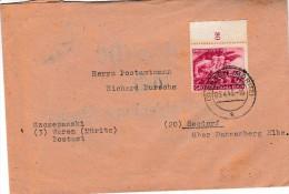 Brief V. Waren N. Seedorf Am 3.4.45.Zum DR 919. Innenseite :POSTSACHE Nach Waldenburg ( Sachs ) 27.3.45 - Germania