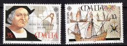Europa CEPT Malte 1992 Y&T N°864 à 865 - Michel N°885 à 886 *** - Europa-CEPT