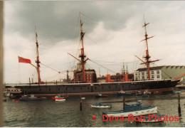 Maritime Photo HMS Warrior Portsmouth 1987 Warship 1860 Ship Royal Navy - Boats