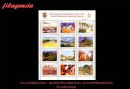 AMERICA. COLOMBIA MINT. 2010 BICENTENARIO DE ACTAS DE PROCLAMACIÓN DE LA INDEPENDENCIA DE COLOMBIA. MINIPLIEGO - Colombia