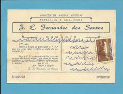 ESMORIZ - Postal MATA BORRÃO Comercial - Publicidade - Buvard Blotter - AVEIRO - Portugal - Non Classés