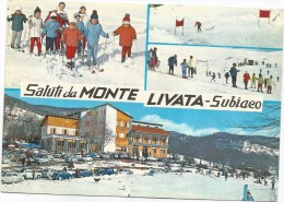 K3360 Subiaco (Roma) - Saluti Da Monte Livata - Auto Cars Voitures / Viaggiata 1964 - Italia