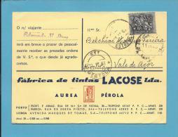 PORTO - Postal MATA BORRÃO Comercial - Fábrica De Tintas LACOSE - Publicidade - Buvard Blotter - Portugal - Blotters