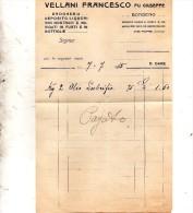 1915 VELLANI FRANCESCO - Fatture & Documenti Commerciali