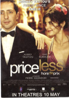 "15J : Movie Film Poster Postcard ""Priceless"" Starring Audrey Tautou, Gad Elmaleh - Posters Op Kaarten"