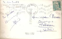 Krag La Baule Sur Carte-photo 1950 - Marcophilie (Lettres)