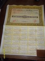 1929 - ACTION 100  Frs ( **COMPTOIRS REUNIS De L'OUEST AFRICAIN  **+ COUPONS )PARIS - Afrique