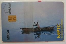 MALAWI - Chip - MK 50 - MPTC - Canoe On Lake Malawi - Mint Blister - Malawi