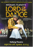 """15H : World Highest Dance Show Poster Postcard """"Lord Of The Dance"""" By Michael Flatley - Afiches En Tarjetas"""