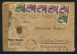 SAARGEBIET / Zensurbrief Von Tholey (Saar) Nach Salzburg Vom 05.04.1947 - 1947-56 Allierte Besetzung