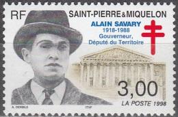 Saint-Pierre Et Miquelon 1998 Yvert 669 Neuf ** Cote (2015) 1.70 Euro Alain Savary - Neufs