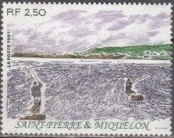 Saint-Pierre Et Miquelon 1991 Yvert 548 Neuf ** Cote (2015) 1.60 Euro Pêcheurs à La Ligne Dans L'eau - Neufs