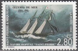 Saint-Pierre Et Miquelon 1994 Yvert 598 Neuf ** Cote (2015) 1.60 Euro Navire Hôpital Saint-Pierre - Neufs