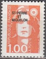 Saint-Pierre Et Miquelon 1990 Yvert 523 Neuf ** Cote (2015) 0.30 Euro Marianne De Briat - Neufs