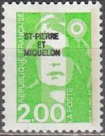 Saint-Pierre Et Miquelon 1990 Yvert 524 Neuf ** Cote (2015) 1.00 Euro Marianne De Briat - Neufs