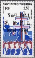 Saint-Pierre Et Miquelon 1991 Yvert 554 Neuf ** Cote (2015) 1.30 Euro Noël - Neufs