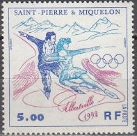 Saint-Pierre Et Miquelon 1992 Yvert 559 Neuf ** Cote (2015) 2.30 Euro Jeux Olympiques Albertville Couple De Patineurs - Neufs