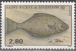 Saint-Pierre Et Miquelon 1993 Yvert 583 Neuf ** Cote (2015) 1.60 Euro Flétan - Neufs