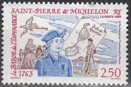 Saint-Pierre Et Miquelon 1992 Yvert 570 Neuf ** Cote (2015) 1.40 Euro Le Baron De L'Espérance - Neufs