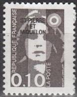 Saint-Pierre Et Miquelon 1990 Yvert 514 Neuf ** Cote (2015) 0.20 Euro Marianne De Briat - Neufs