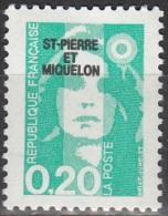Saint-Pierre Et Miquelon 1990 Yvert 515 Neuf ** Cote (2015) 0.30 Euro Marianne De Briat - Neufs
