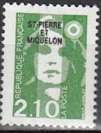 Saint-Pierre Et Miquelon 1990 Yvert 517 Neuf ** Cote (2015) 1.10 Euro Marianne De Briat - Neufs