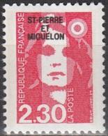 Saint-Pierre Et Miquelon 1990 Yvert 518 Neuf ** Cote (2015) 1.30 Euro Marianne De Briat - Neufs