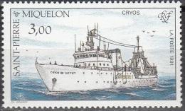 Saint-Pierre Et Miquelon 1991 Yvert 550 Neuf ** Cote (2015) 1.60 Euro Le Cyros - Neufs