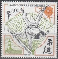 Saint-Pierre Et Miquelon 1989 Yvert 498 Neuf ** Cote (2015) 2.60 Euro 25 Ans De Judo - St.Pierre & Miquelon