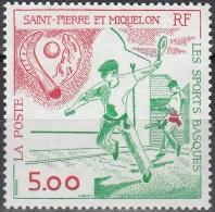 Saint-Pierre Et Miquelon 1991 Yvert 547 Neuf ** Cote (2015) 2.30 Euro Les Sports Basques - Neufs