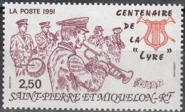 Saint-Pierre Et Miquelon 1991 Yvert 545 Neuf ** Cote (2015) 1.25 Euro Centenaire De La Lyre - Neufs