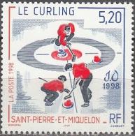 Saint-Pierre Et Miquelon 1998 Yvert 670 Neuf ** Cote (2015) 2.60 Euro Jeux Olympiques Nagano Curling - Neufs