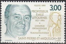 Saint-Pierre Et Miquelon 1999 Yvert 686 Neuf ** Cote (2015) 1.70 Euro Professeur Emile Letournel - Neufs