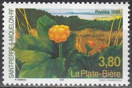 Saint-Pierre Et Miquelon 1999 Yvert 688 Neuf ** Cote (2015) 2.25 Euro La Plate-bière - Neufs