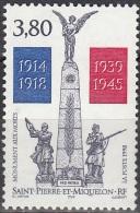 Saint-Pierre Et Miquelon 1998 Yvert 684 Neuf ** Cote (2015) 2.00 Euro Le Monument Aux Morts - Neufs