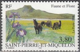 Saint-Pierre Et Miquelon 1998 Yvert 671 Neuf ** Cote (2015) 2.00 Euro Chevaux - Neufs