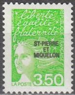 Saint-Pierre Et Miquelon 1997 Yvert 659 Neuf ** Cote (2015) 2.00 Euro Marianne De Luquet - Neufs