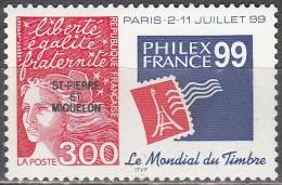 Saint-Pierre Et Miquelon 1998 Yvert 674 Neuf ** Cote (2015) 1.40 Euro Marianne De Luquet Philexfrance '99 - Neufs