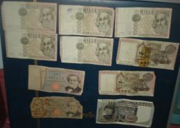 LOT De 10 Billets.1de 10000,2 De 5000,5+2 De 1000 Lire.Tous Etat - [ 2] 1946-… : Républic