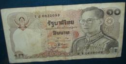 1 Billet De 10.Etat Corrct - Thaïlande