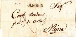 14160# LETTERA OLEGGIO 1841 => ARONA Via MEINA - Italia
