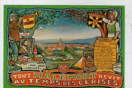 MALEMORT DU COMTAT. LA FETE DES CERIES. CREATION DE LEOPOLD REYNIER..... - France