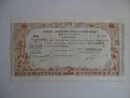 Tres Rare Traite De 100 Francs De Nouvelle Caledonie Du 21 Frevier 1874 !!! - Nouvelle-Calédonie 1873-1985