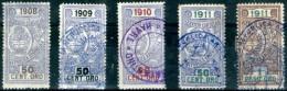 Argentina-005 - 1908/1911 - Marche Consolari (o) - Prive Di Difetti Occulti. - Argentina
